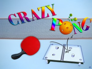 LOGO Crazy Pong COPYRIGHT